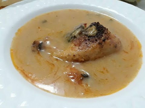 Çervish me Mish Pule në Tavë Tradicionale ( Chicken Sauce)
