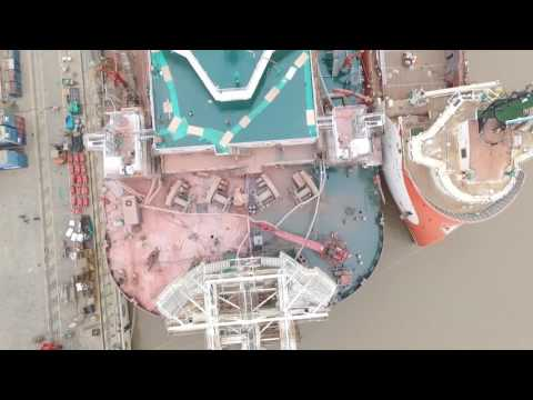 Progress of the heavy lift vessel GULLIVER
