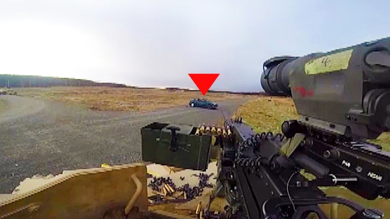 GoPro First Person View • Firing a 50 Caliber Machine Gun