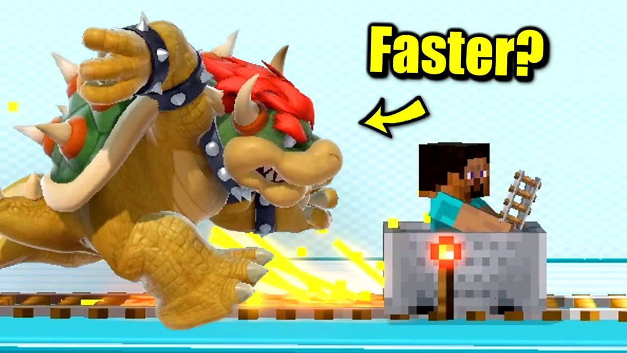 Who Can Outrun Steve's Redstone Minecart in Super Smash Bros. Ultimate?