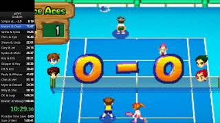 Mario Tennis Power Tour - Doubles Speedrun in 1:06:46 [Current World Record]