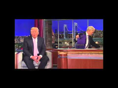 David Letterman Verses Donald Trump On His China Made Clothing Line Very Funny Stuff)