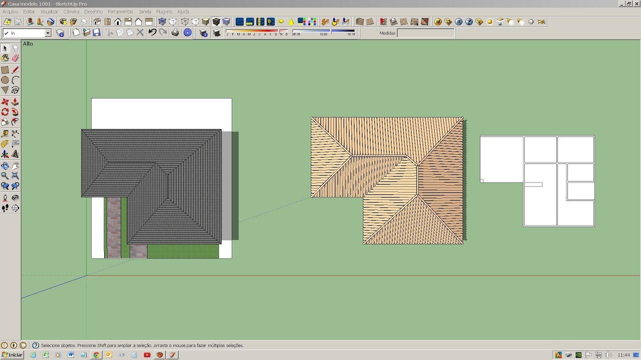 Sketchup telhado youtube for Mobilia para sketchup 8