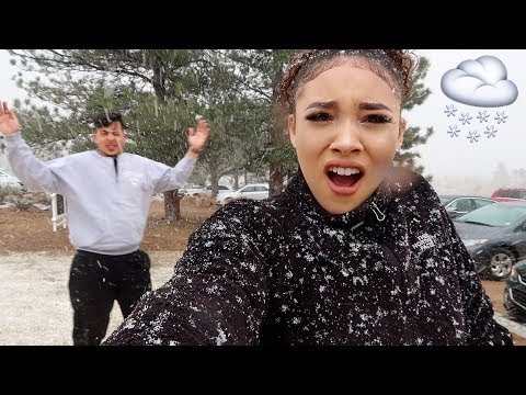 WE GOT STUCK IN A SNOW STORM!!!