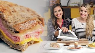How To Iron Up A Ham And Cheese Panini | Food Hacks