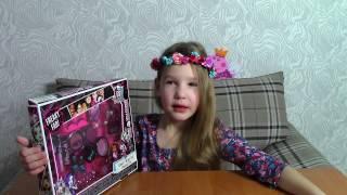 Накладные ресницы Распаковка Косметики Монстер Хай Monster High beauty set