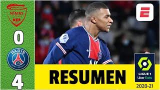 PSG 4-0 Nimes. Doblete de Kylian Mbapppé le da el liderato de la Ligue 1 de Francia | Exclusivos