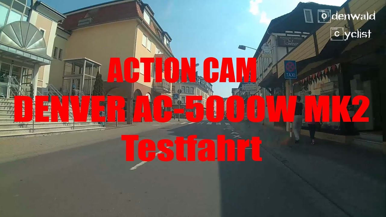 testfahrt action cam denver ac 5000w mk2 deutsch youtube. Black Bedroom Furniture Sets. Home Design Ideas
