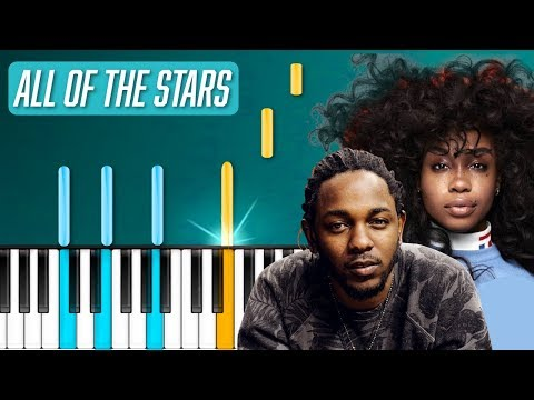 """Kendrick Lamar, SZA - """"All The Stars"""" Piano Tutorial - Chords - How To Play - Cover"""
