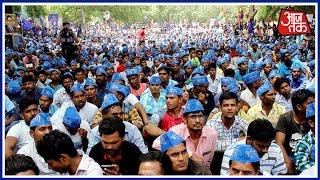Dalit Community Protests Against The UP Government At Jantar Mantar, Delhi