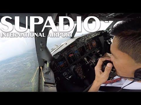Cockpit View - Landing @ Supadio International Airport, Pontianak