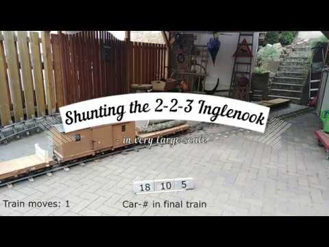 2-2-3 Inglenook Shunting Puzzle (in Large Scale)