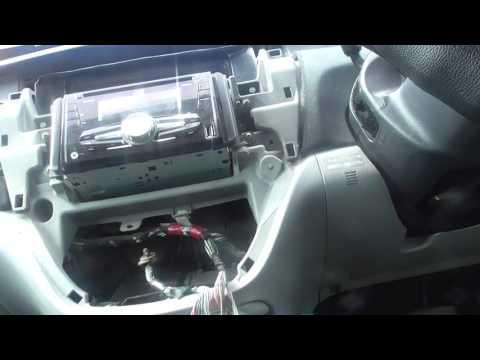 Как снять климат контроль и щиток приборов toyota opa 10 кузов