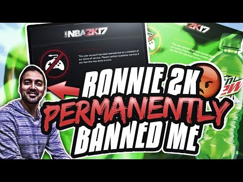RONNIE 2K BANNED ME PERMANENTLY😱😲• MY LEGEND IS GONE 👑• RONNIE 2K BANS ME FOR NO REASON!