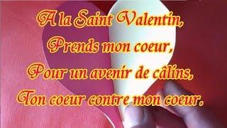 Poème, message de la Saint Valentin : Prends mon cœur, à offrir