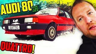 Perfektes QUATTRO Wetter! - Audi 80 GTE Typ 85 - Wir bringen ihn rüber