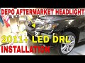 2006-2013 Lexus IS250 IS350 2IS LED DRL DEPO Aftermarket Headlight Installation