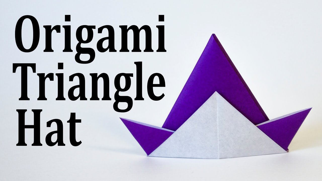 Origami Triangle Hat Tutorial (Traditional) - YouTube - photo#9