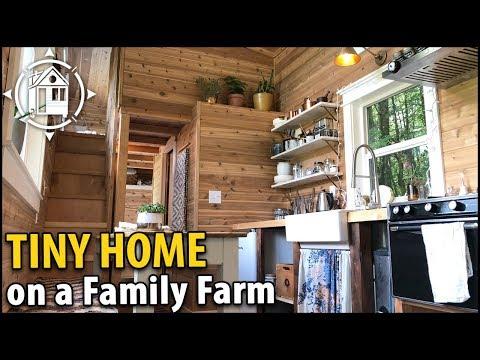 Family Builds Beautiful TINY HOUSE Homestead on Their Farm