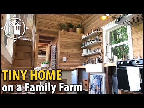 Family Builds Beautiful TINY HOUSE Homestead on Their Farm