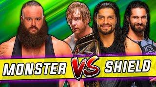 Braun Strowman vs. Roman Reigns & Dean Ambrose & Seth Rollins (The Shield) - Raw, Oct. 9, 2017