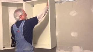 Tip for installing IKEA kitchen cabinets.
