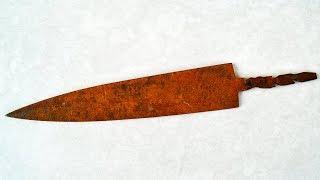 Old Rusty Dagger Knife Restoration