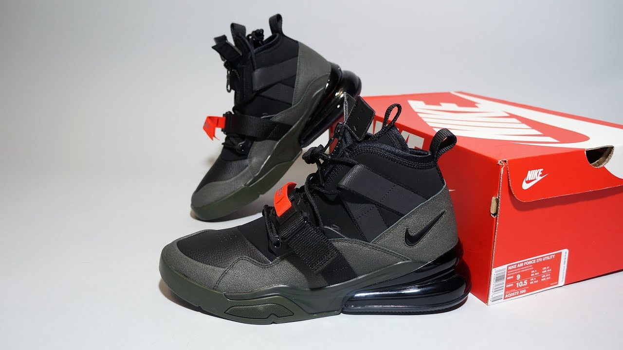 new concept a6b87 b01e7 Nike Air Force 270 Utility Sequoia AQ0572-300