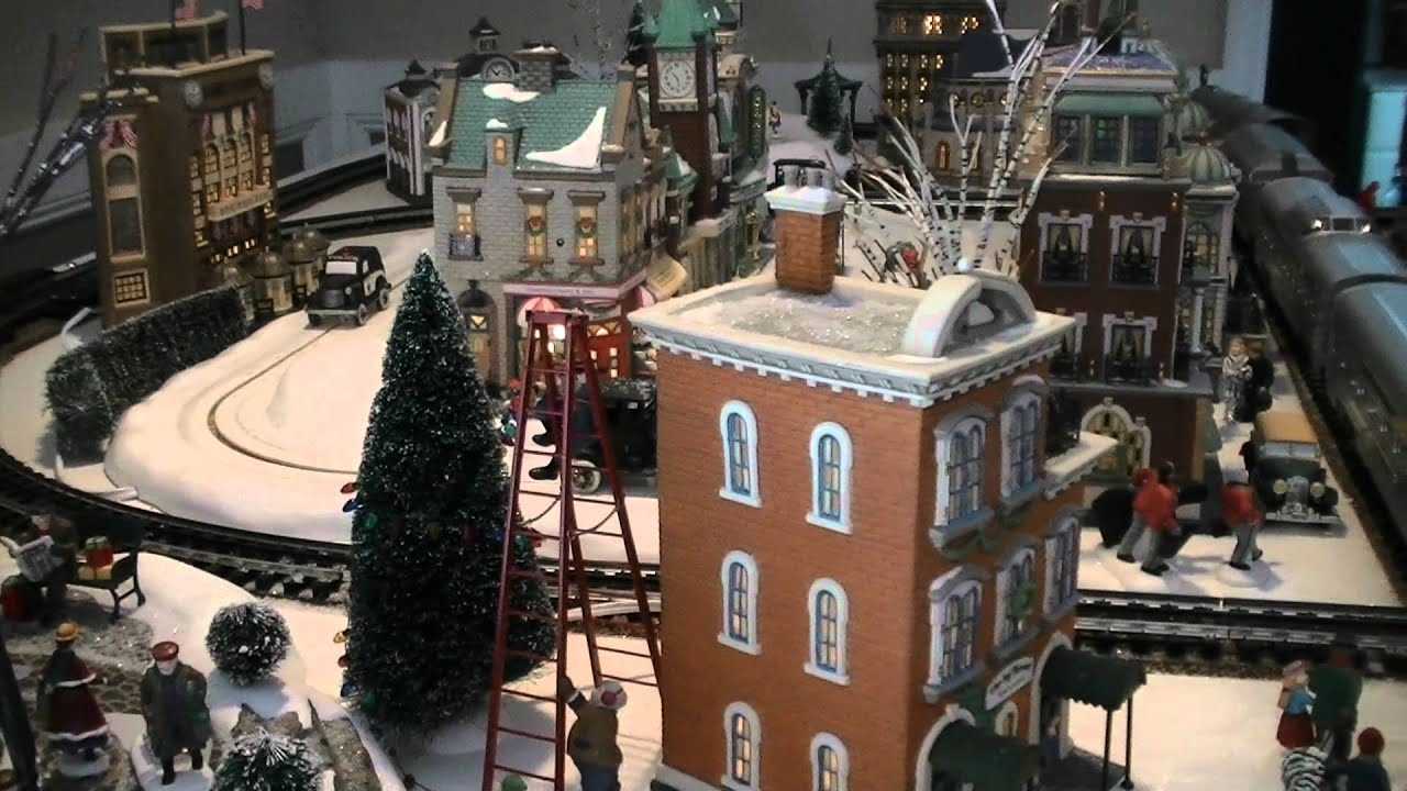 department 56 christmas in the city display 03 youtube. Black Bedroom Furniture Sets. Home Design Ideas