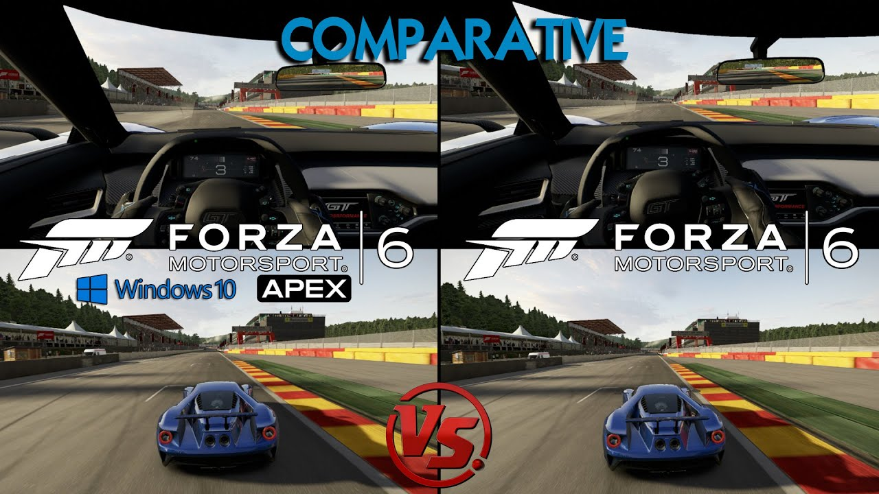 forza 6 apex beta pc vs forza 6 xbox ford gt 2017 spa francorchamps graphics sounds. Black Bedroom Furniture Sets. Home Design Ideas