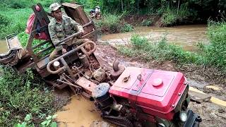 Gambar cover - Xe Càng đi qua suối Đăk Glung .. The tractor swims through the stream