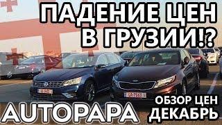 Падение цен в Грузии?! Рынок Autopapa. Обзор цен декабрь 2019.