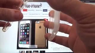 Coque Intégrale iPhone 6 / 6S Silicone Tactile et Face Arrière Rigide Or