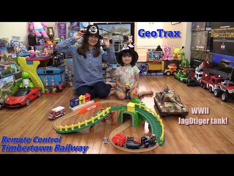 Toy Trains For Kids: Fisher-Price GeoTrax Remote Control Timbertown Railway Set Unboxing