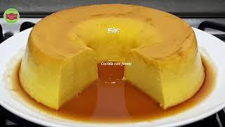 El mejor y más delicioso flan sin huevo y sin horno ni baño María con muy pocos ingredientes