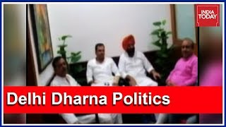 Delhi Dharna Politics: BJP's Counter Protest At Arvind Kejriwal's Residence