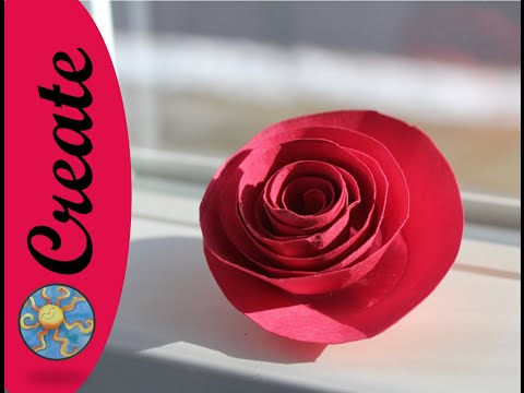 Fun Flower Craft Activity: a paper rose