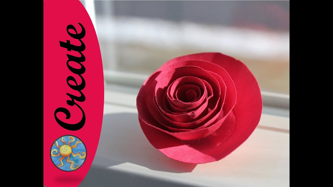 Fun flower craft activity a paper rose youtube mightylinksfo