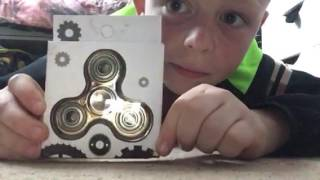 unboxing  GOLD FIDGET SPINNER