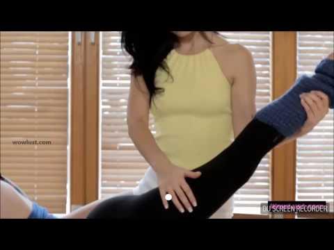 Hot yoga ass seduce lesbian kiss
