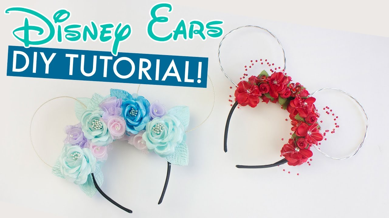 Diy Floral Disney Ears Tutorial Balsacircle Com