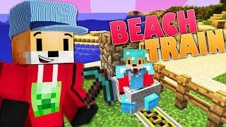 Minecraft Survival | BEACH TRAIN | Foxy's Survival World [103]