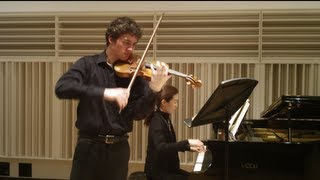 Stephen Tavani, violin: Brahms Sonata No. 1 in G major, Op. 78 I. Vivace ma non troppo