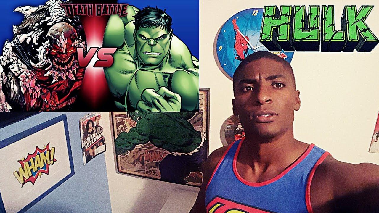 HULK VS DOOMSDAY | DEATH BATTLE REACTION - YouTube Doomsday Vs Hulk Death Battle Reaction