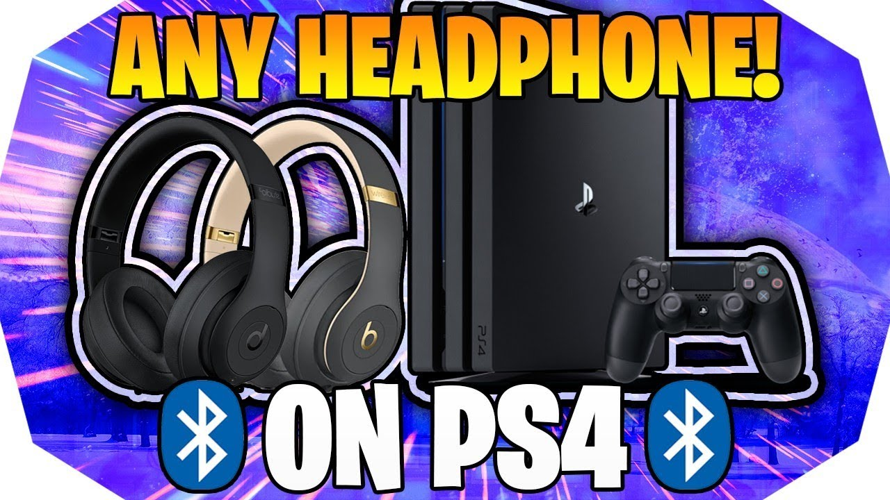 How To Connect Any Bluetooth Headset To Ps4 How To Connect Bluetooth Headphones To Ps4 Youtube