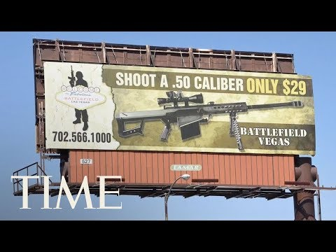 Las Vegas Gun Billboard Vandalized To Say 'Shoot A School Kid Only $29' For Tourists | TIME
