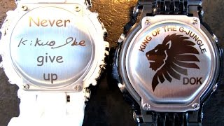 ff8849f6d9d G Shock custom backplate Laser printed!! unboxing by TheDoktor210884