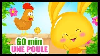 Une poule sur un mur - 60 min de comptines pour enfants - Titounis