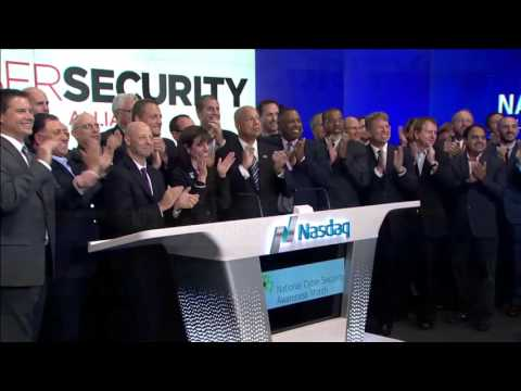 The National Cyber Security Alliance And Secretary Jeh Johnson Close The Nasdaq