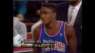Pistons-Bulls (1993): SportsCenter Highlights (4 games - MJ game-winner, a fight)